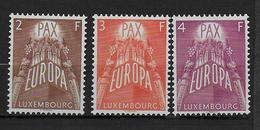 LUXEMBOURG - 1957 EUROPA - YVERT N° 531/533 * / MLH  - COTE = 150 EUR. - Luxemburg