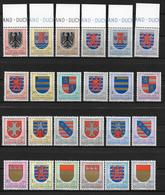 LUXEMBOURG - 1956/1959 - SERIES ARMOIRIES COMPLETES ** / MNH  - COTE = 60 EUR. - Luxemburg