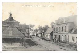 GRANDCOURT  (cpa 76)  Route De Grandcourt à Fresnoy  ## TRES  RARE  ## -  L 1 - Autres Communes