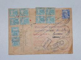 Mandat Poste Carte Postale Remboursement Gandon Revel Haute Garonne Taxe Gerbe - Lettres Taxées