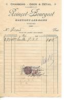 Facture 1/2 Format 1936 / 88 Martigny-Les-Bains POINCOT-BOURGEOT Charbons - France