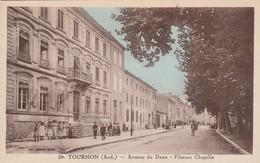 Ardéche : TOURNON : Avenue Du Doux - Filature Chapelle ( Colorisée ) - Tournon