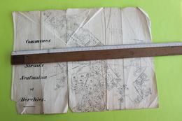 Communes De Sirault, Neufmaison Et Herchies _ Inventaire Des Parcelles Cadastrales - Travaux Publics