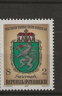 1000 Ans De L' Histoire Autrichienne.-Armoiries Des Provinces.-Styrie. - 1971-80 Covers