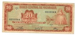 Nicaragua 20 Cordobas 1972, VF+. - Nicaragua