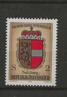 1000 Ans De L' Histoire Autrichienne.-Armoiries Des Provinces.-Salzboiug.. - 1971-80 Covers