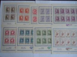 België Belgique Expo 1972 Belgica 72 Koningen Rois Velletje Van 10 Feuillet De 10 Yv COB 1627-1635 MNH ** - Feuillets