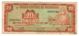 Nicaragua 20 Cordobas 1972, VF. - Nicaragua