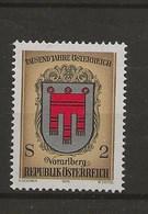 1000 Ans De L' Histoire Autrichienne.-Armoiries Des Provinces.-Vorarlberg.. - 1971-80 Covers