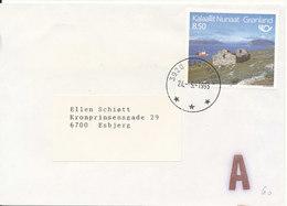 Greenland Cover Sent To Denmark Qaqortoq 24-5-1993 - Covers & Documents