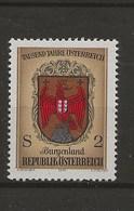 1000 Ans De L' Histoire Autrichienne.-Armoiries Des Provinces.-Burgenland. - 1971-80 Covers