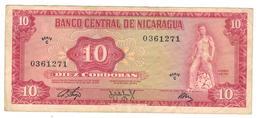 Nicaragua 10 Cordobas 1972, VF+. - Nicaragua