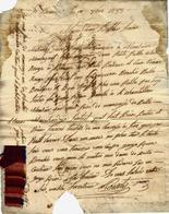 1833 LETTRE COMMERCE NEGOCE TISSUS Avec ECHANTILLON Libourne  Pourty Jeune à Mr Bsatsard Fabricant à Colmar VOIR SCANS - Francia