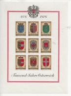 1000 Ans De L' Histoire Autrichienne.-Armoiries Des Provinces. - Blocs & Feuillets