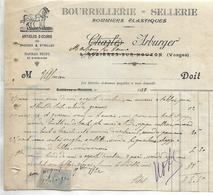 Facture 1/2 Format 1920 / 88 Martigny-Les-Bains Rozières Sur Mouzon /  ARBUGER / Bourrellerie, Sellerie, Articles Ecurie - France
