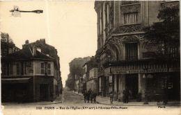 CPA PARIS 15e Rue De L'Église, A L'Avenue Félix-Faure F. Fleury (303681) - Arrondissement: 15