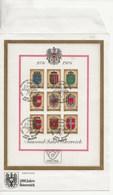 1000 Ans De L' Histoire Autrichienne.-Armoiries Des Provinces. - Blocks & Sheetlets & Panes