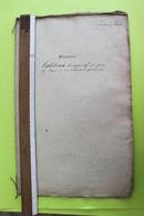 Canton De Lens Tabeau Comparatif Des Baux D'usines 1833 - Travaux Publics