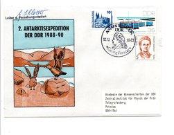 ALLEMAGNE RDA DDR FDC 1990 STATION ANTARCTIQUE DE LA RDA - Stamps