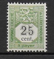 LUXEMBOURG - 1907 - TAXE YVERT N° 5 ** MNH LUXE  - COTE = 180 EUR. - Besetzungen