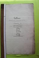 Canton De Lens Tabeau Des Baux Des Diverses Entités De 1816 à 1826 - Travaux Publics