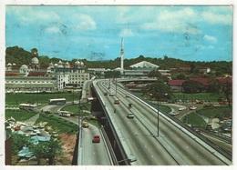 Bird's Eye View Of Masjid Negara (National Mosque), Railway Station And The Federal Highway, Kuala Lumpur - Malaysia