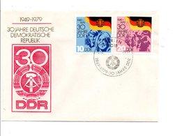 ALLEMAGNE RDA DDR FDC 1979 30 ANS DE LA RDA - [6] Democratic Republic