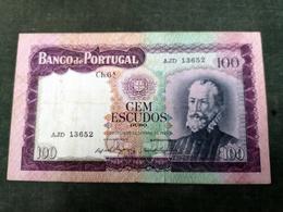 Portugal PAPEL. 100$00 Ch. 6A 19/12/1961,Pedro Nunes - Portugal