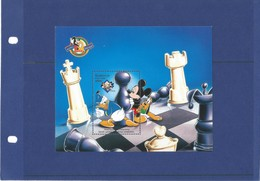 AZERBAIJAN 1998 .CHESS  Mickey Mouse . Blue Block - Azerbaïjan