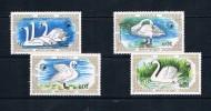 Serie Set Oiseau Oiseaux Bird Birds  Neuf ** MNH   Mongolie Mongolia 1987 - Swans