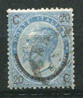 9161  ITALIE N°22 °  Victor-Emmanuel (17) Avec Surcharge Brune    1865  B/ TB - 1861-78 Vittorio Emanuele II