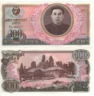 North KOREA  100 Won   (1978)   P22    (Kim Ll Sung At Center) UNC - Corea Del Norte
