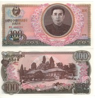 North KOREA  100 Won   (1978)   P22    (Kim Ll Sung At Center) UNC - Corée Du Nord