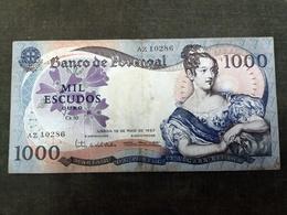 Portugal PAPEL. 1000$00 Ch. 10 D MARIA II 19/5/1967 - Portugal