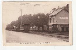 LIFFRE - LA GARE DE MI FORET - TRAIN - 35 - France