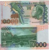 SAINT THOMAS & PRINCE  10'000 Dobras.  P66a  Dated 22.10.1996 (Bird Serie One Security Thread) UNC - San Tomé Y Príncipe