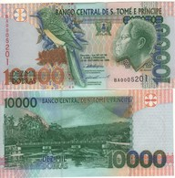 SAINT THOMAS & PRINCE  10'000 Dobras.  P66a  Dated 22.10.1996 (Bird Serie One Security Thread) UNC - Sao Tomé Et Principe