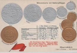 Motiv-Münzen/Präge -  Marokko   - Schöne Alte Karte ....   (ka5101  ) Siehe Scan - Monedas (representaciones)