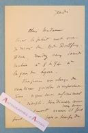 L.A.S Albert DURUY - Ecrivain Et Journaliste Français - Dollfus - Gare De Lyon - Lettre Autographe LAS Paris - Autographs
