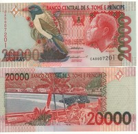 SAINT THOMAS & PRINCE  20'000 Dobras.  P67a  Dated 22.10.1996 (Bird Serie One Security Thread) UNC - Sao Tome And Principe
