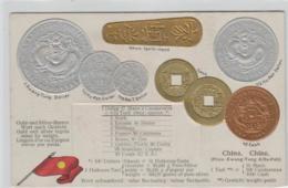 Motiv-MünzenPräge -China   - Schöne Alte Karte ....   (ka5281  ) Siehe Scan - Coins (pictures)