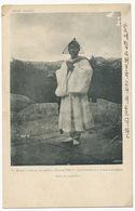 Bonze Coréen En Priere . Prohibited To Enter In The Capital  3 Stamps Korea - Corée Du Sud
