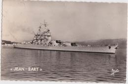 Br - Cpsm Petit Format TOULON - Le Jean Bart, Bâtiment De Ligne (cachet Porte Avions Arromanches 1956 Au Dos) - Toulon