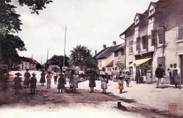 CPA De BLAMONT (Doubs) - Centre Du Village. Colorisée. Edit. Bauer/Marchet. Circulée En 1904. Bon état. - Altri Comuni