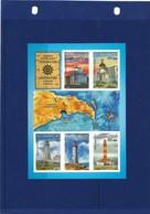 Azerbaijan 2013 . Inperf S/sheet  Lighthouse - Azerbaiján