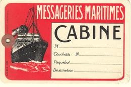 MESSAGERIES MARITIMES - ETIQUETTE DE BAGAGES - Bateaux