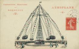 33 BORDEAUX /  Exposition Maritime - Aéroplane, Manège / Dessin - Bordeaux