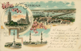 33 BORDEAUX / Souvenir De Bordeaux / Multivues / Dessin / - Bordeaux