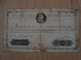 ASSIGNAT DE CINQUANTE LIVRES JUIN 1791  BOIVIN - Assignats & Mandats Territoriaux