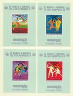 KHMERE ( AS- 417 ) 1974  N° YVERT ET TELLIER BLOCS SPECIAUX  N° 354A/354D    N** - Kampuchea